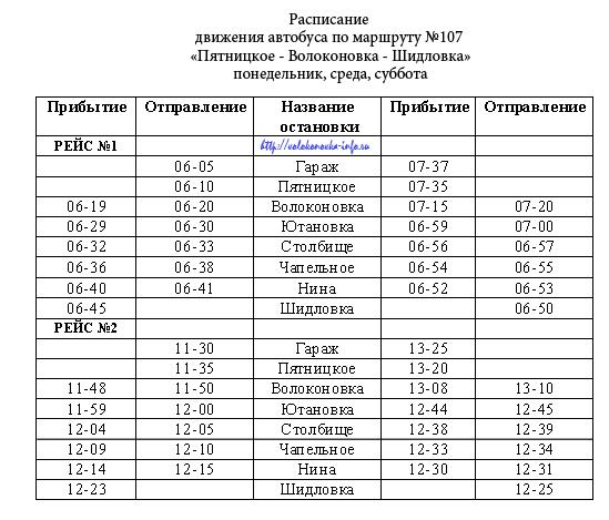 """107 маршрут """"Пятницкое-Волоконовка-Шидловка"""""""